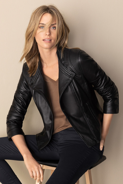 Capture Leather Biker Jacket