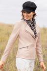 Emerge Stitch Detail Long Sleeve Leather Jacket