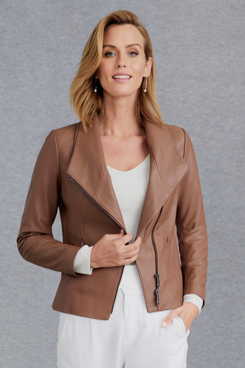 Grace Hill Statement Leather Jacket