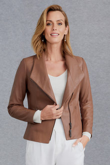Grace Hill Statement Leather Jacket - 221119