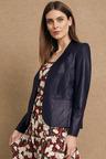 Grace Hill Leather Blazer