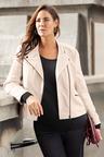 Sara Leather Biker Jacket