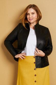 Sara Leather Dress Jacket - 221124