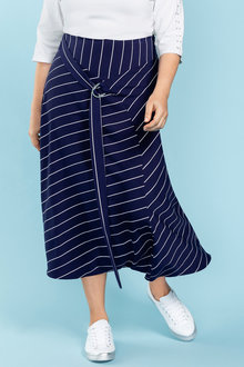 Plus Size - Sara Tie Detail Maxi Skirt