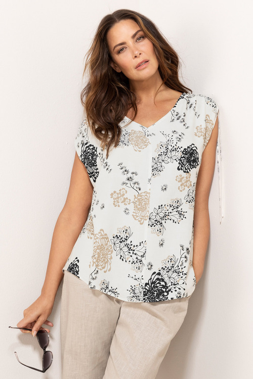 Sara Tie Shoulder Top