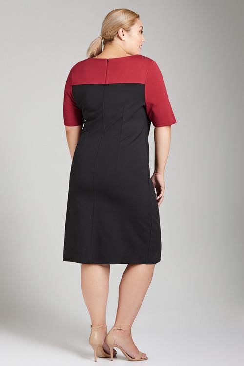 Plus Size - Sara Ponti Colourblock Dress