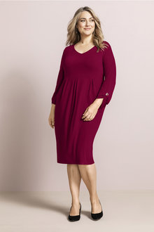 Plus Size - Sara Eyelet Detail Dress