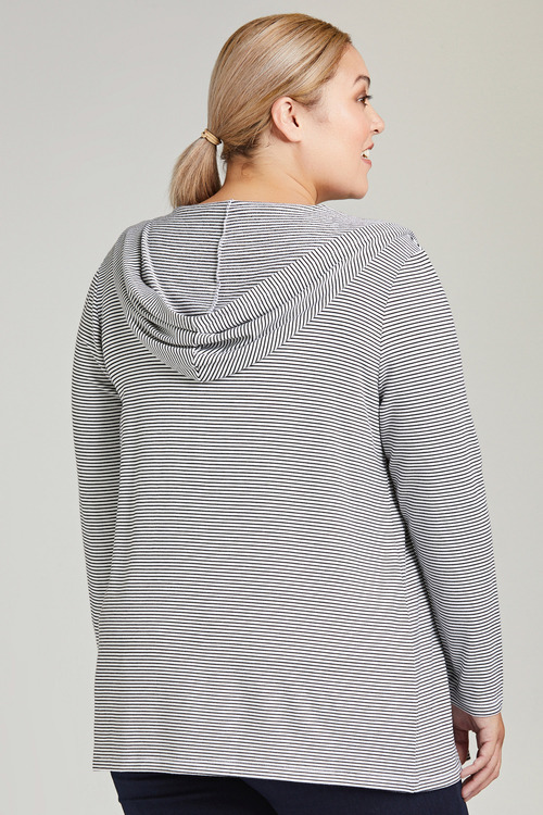 Plus Size - Sara Stripe Hoody