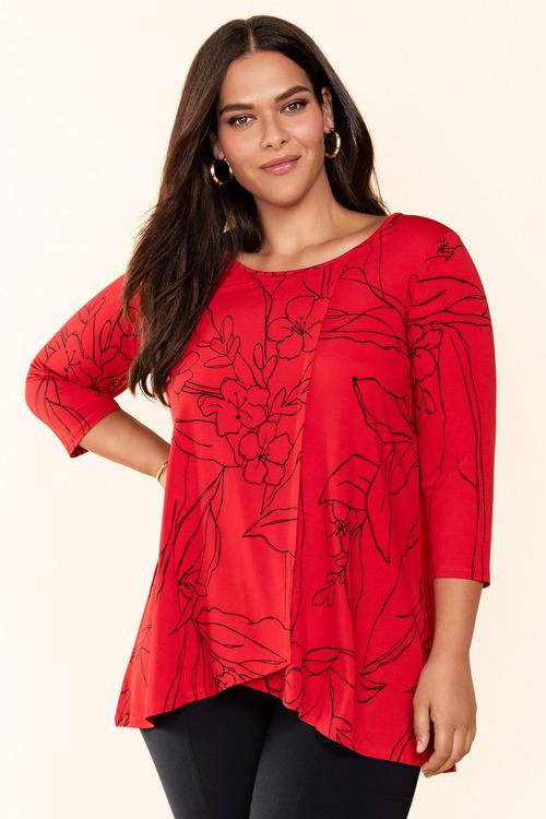 Plus Size - Sara Angled Hem Top