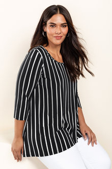 Plus Size - Sara Angled Hem Top