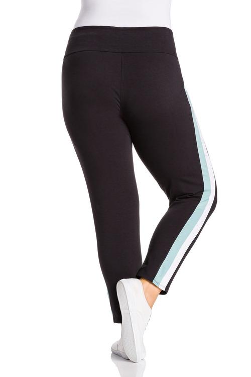 Plus Size - Sara Dual Stripe Active Legging