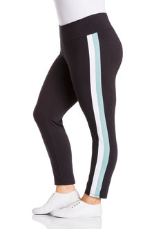 Plus Size - Sara Dual Stripe Active Legging