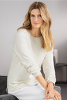Grace Hill Cotton Cashmere Drop Hem Sweater