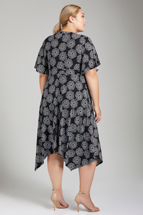Plus Size - Sara Angled Hem Dress