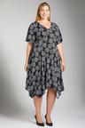 Plus Size - Sara Angled Hem Dress