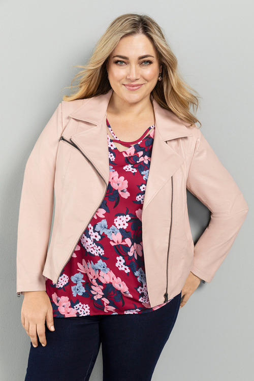 Plus Size - Sara PU Jacket