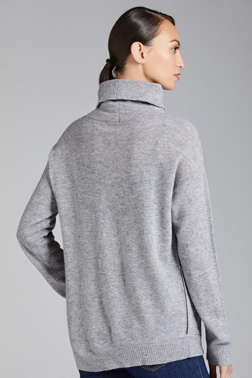 Emerge Lambswool Cowl Neck Sweater