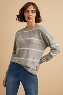 Emerge Lambswool Stripe Sweater - 221187