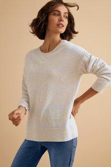 Emerge Lambswool Stripe Sweater - 221187