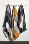 Oxford check wool blanket
