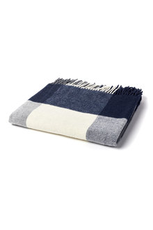 Oxford Check Wool Throw