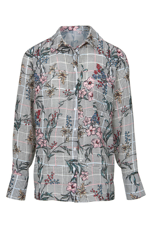 Heine Floral Check Blouse