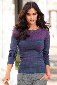 Urban Pocket Detail Stripe Pullover