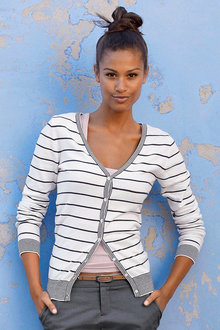 Urban Stripe Cardigan - 221221