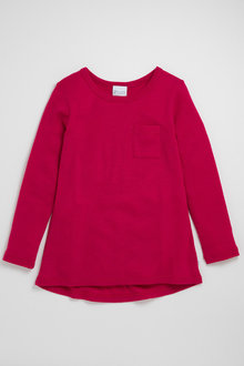 Pumpkin Patch Merino Long Sleeve Top with Scoop Hem - 221246