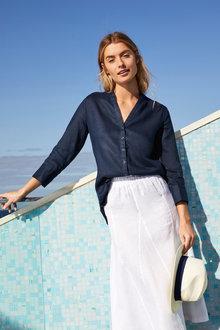 Capture Button Up Linen Shirt - 221253
