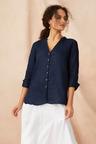 Capture Button Up Linen Shirt