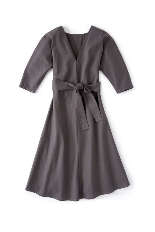 Grace Hill Belted Linen Dress