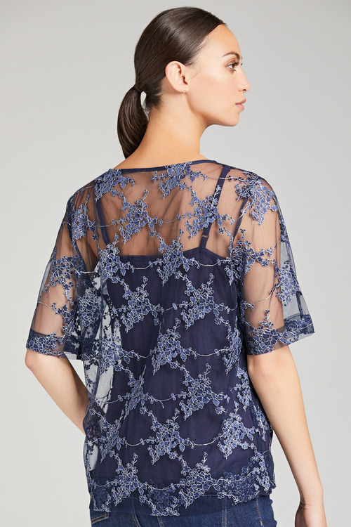 Grace Hill Embroidered Shell Top