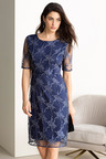 Grace Hill Embroidered Sleeve Dress