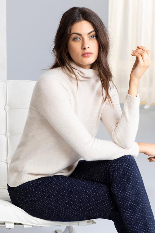 Grace Hill Cashmere Blend Roll Neck Sweater