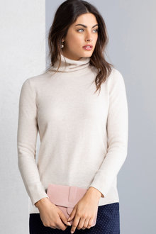 Grace Hill Cashmere Blend Roll Neck Sweater