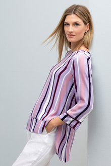 Grace Hill Panel Detail 3/4 Sleeve Top