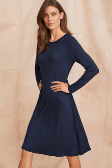 Grace Hill Long Sleeve Swing Dress - 221377
