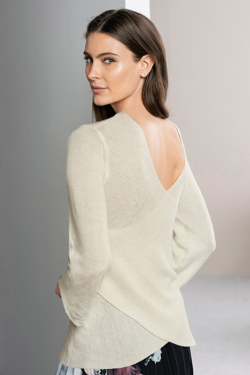 Grace Hill Cross Back Sweater