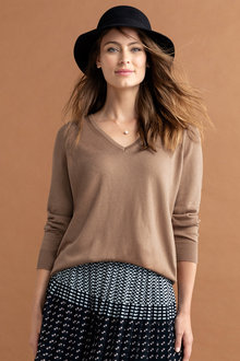 Grace Hill V Neck Sweater