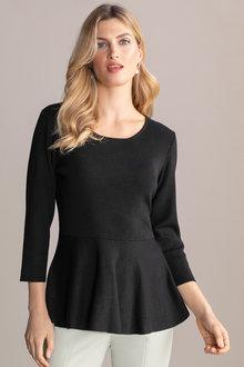 Grace Hill Peplum Sweater Top