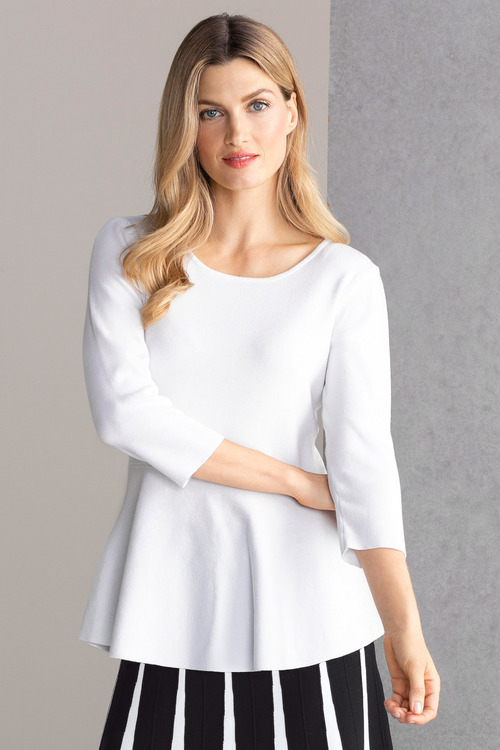 Grace Hill Peplum Sweater Top
