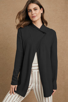 Grace Hill Waffle Knit Shawl Collar Cardigan - 221391