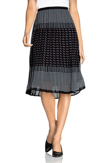 Grace Hill Pleated Midi Skirt - 221395