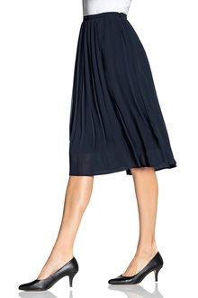 Grace Hill Pleated Midi Skirt - 221395