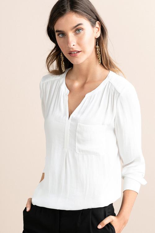 Grace Hill Half Placket Long Sleeve Shirt