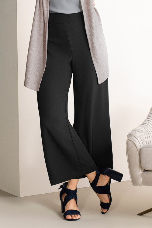 Grace Hill Satin Back Crepe Wide Leg Pant