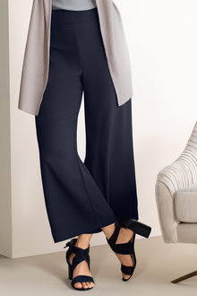 Grace Hill Satin Back Crepe Wide Leg Pants