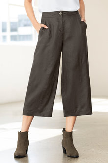 Grace Hill Linen Wide Leg Crop Pant