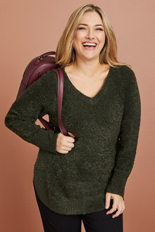 Plus Size - Sara Poodle Sweater - 221409